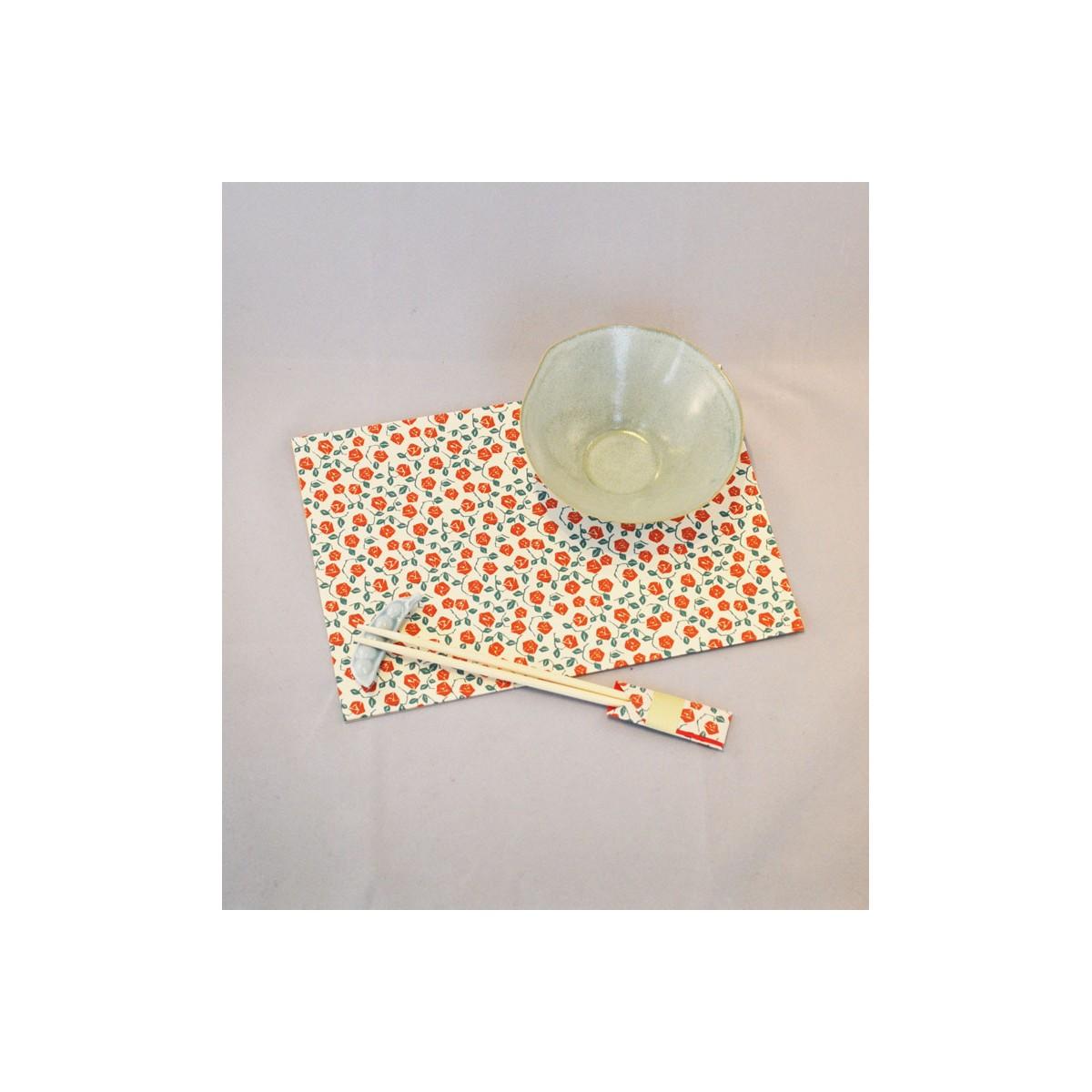 Set de table papier japonais papier origami japanese for Set de table rose