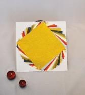 pochette - papier aspect froissé doré et micacé 15 x 15