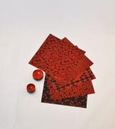pochette - papier laqué Kamakurabori 15 x 15