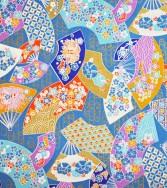 bal des éventails - bleu
