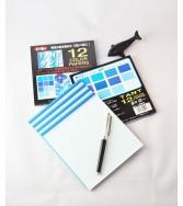 papier Tant 15 x 15 cm - 48 feuilles de 12 teintes bleues