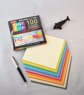 papier Tant 15 x 15 cm - 100 feuilles de 100 teintes différentes