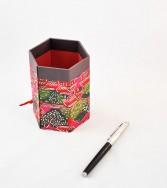 pot à crayons recouvert de chiyogami