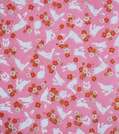 lapin joyeux - rose
