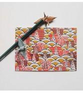 carte postale - régate orange