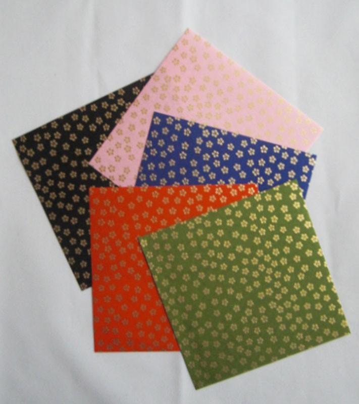 papier japonais chiyogami pochette papier brillant origami. Black Bedroom Furniture Sets. Home Design Ideas