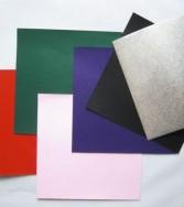 pochette - papier argenté 15 x 15 et 7,5 x 7,5 double face
