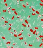 poisson rouge - vert d'eau