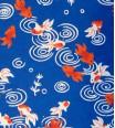 poisson rouge - bleu marine
