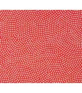 vague de pointillés - doré sur fond rouge