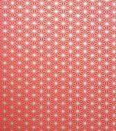 tissu d'étoiles - doré sur rouge