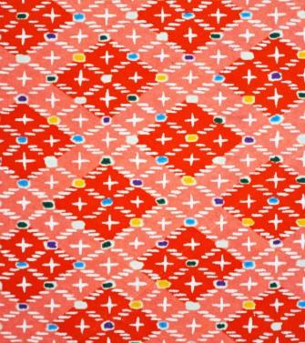 damier de losanges - rouge