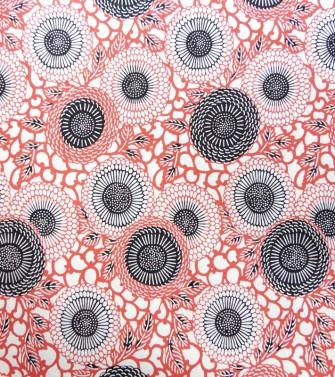 chrysanthème soleil - rouge orangé