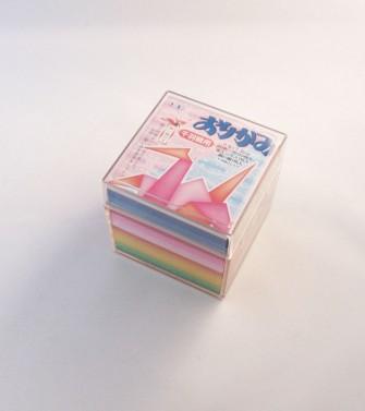 """boîte """"mille grues"""" - 1000 feuilles 7,5 x 7,5 cm"""