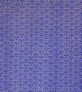 vague - pointillés argent sur fond bleu marine