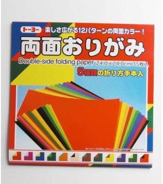 pochette kami double face 24 x 24 cm - 35 feuilles