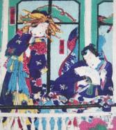Couple sur un balcon, ca 1880.