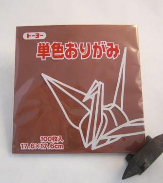 papier Oridzuru - 17,6 x 17,6 cm Chesnut