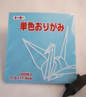 papier Oridzuru - 17,6 x 17,6 cm Light Blue