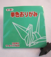 papier Oridzuru - 17,6 x 17,6 cm Celadon green