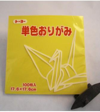 papier Oridzuru - 17,6 x 17,6 cm Yellow