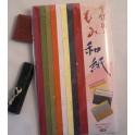 pochette - papier uni micacé gamme chromatique 36 x 26