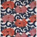 chrysanthème - rouge et framboise