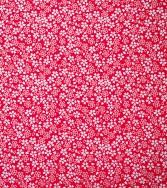 délicatesse florale - blanc sur fond rouge