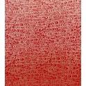 fluidité ondoyante - doré sur fond rouge