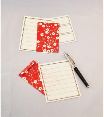ensemble correspondance petites enveloppes - cerisier