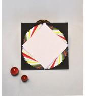 pochette - papier uni aspect froissé gamme chromatique 15 x 15