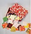 Boîte à courrier recouverte de chiyogami - teinte rouge