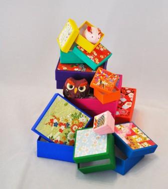 10 boîtes gigognes chiyogami