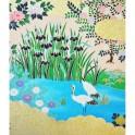 rivière de fleurs roses - Koishikawa Korakuen
