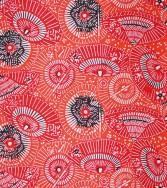 pluie d'ombrelles - rouge