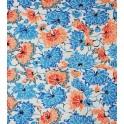 chrysanthème - bleu et orangé