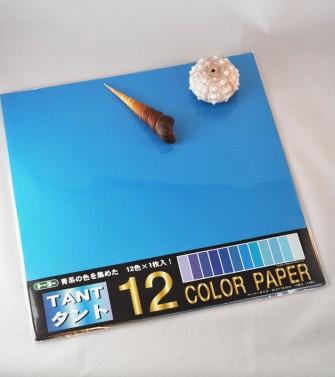 papier Tant 35 x 35 cm - 12 teintes bleues