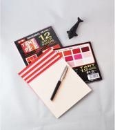 papier Tant 15 x 15 cm - 48 feuilles de 12 teintes rouges