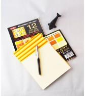 papier Tant 15 x 15 cm - 48 feuilles de 12 teintes jaunes