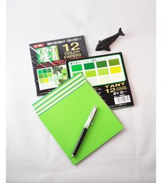 papier Tant 15 x 15 cm - 48 feuilles de 12 teintes vertes