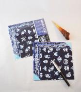 pochette - chiyogami bleu 15 x 15 cm
