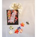 stickers - fleur multicolore