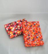 boîte moyenne recouverte de chiyogami - teinte rouge