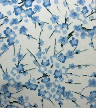 branche de cerisier - bleu sur azur