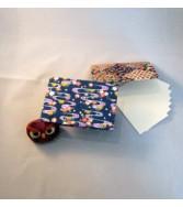 porte cartes en chiyogami aspect froissé - bleu et autres couleurs