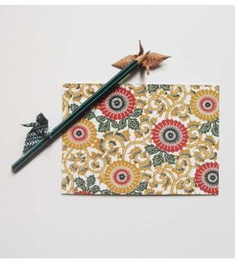 carte postale - chrysanthème à feuilles