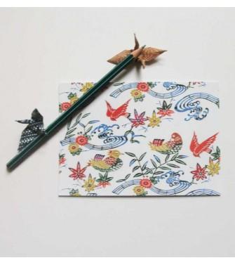carte postale - oiseau musicien