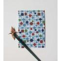carte postale - mondrian bleu