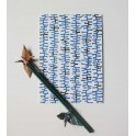 carte postale - herbe de mer - bleu