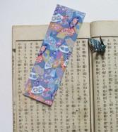 marque-pages - bal des éventails - bleu